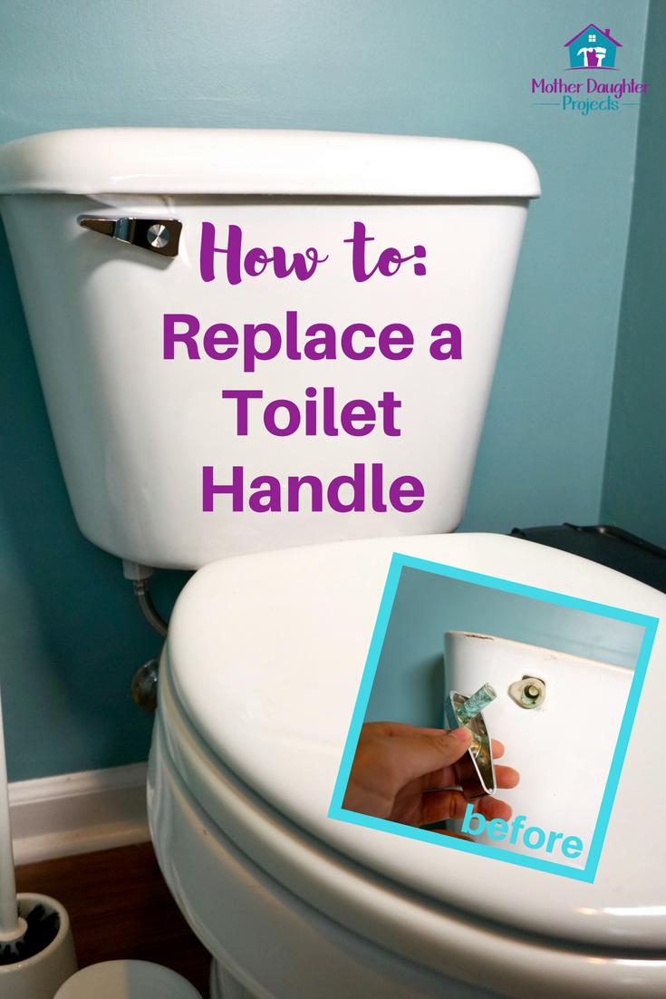 How To Replace A Toilet Tank Lever Toilet Handle Broken Toilet Toilet Handle Repair