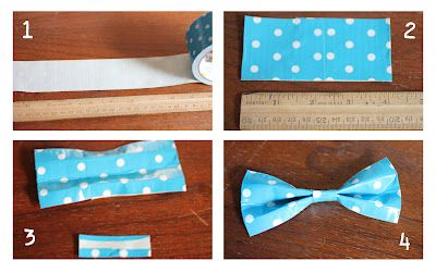 The best instructions for duct tape bow ties I've found! Great images. Going to use for pin the bow tie on the Doctor.