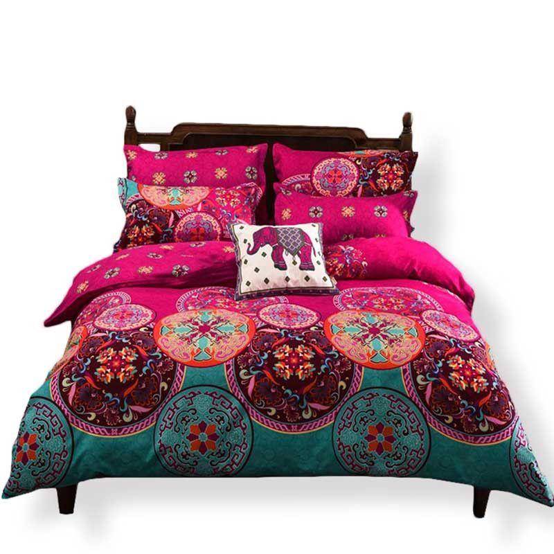 Boho Duvet Cover Set Comforter Note, Magenta Bedding Sets