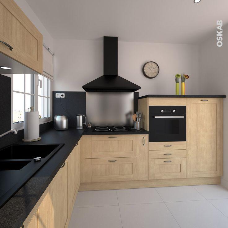 Plans maison en photos 2018 cuisine équipée basilit bois brut vendue en ligne sur www oskab com kitchens armoires and foyers