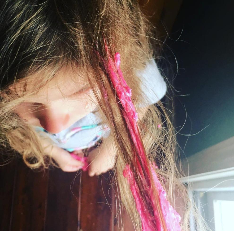 Only Parents Know The Agony Of Having To Remove Slime Hair Wrap Beauty Hair Styles