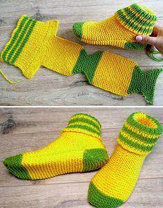 Two Needle Socks - Free Knitting Pattern   Two needle ...