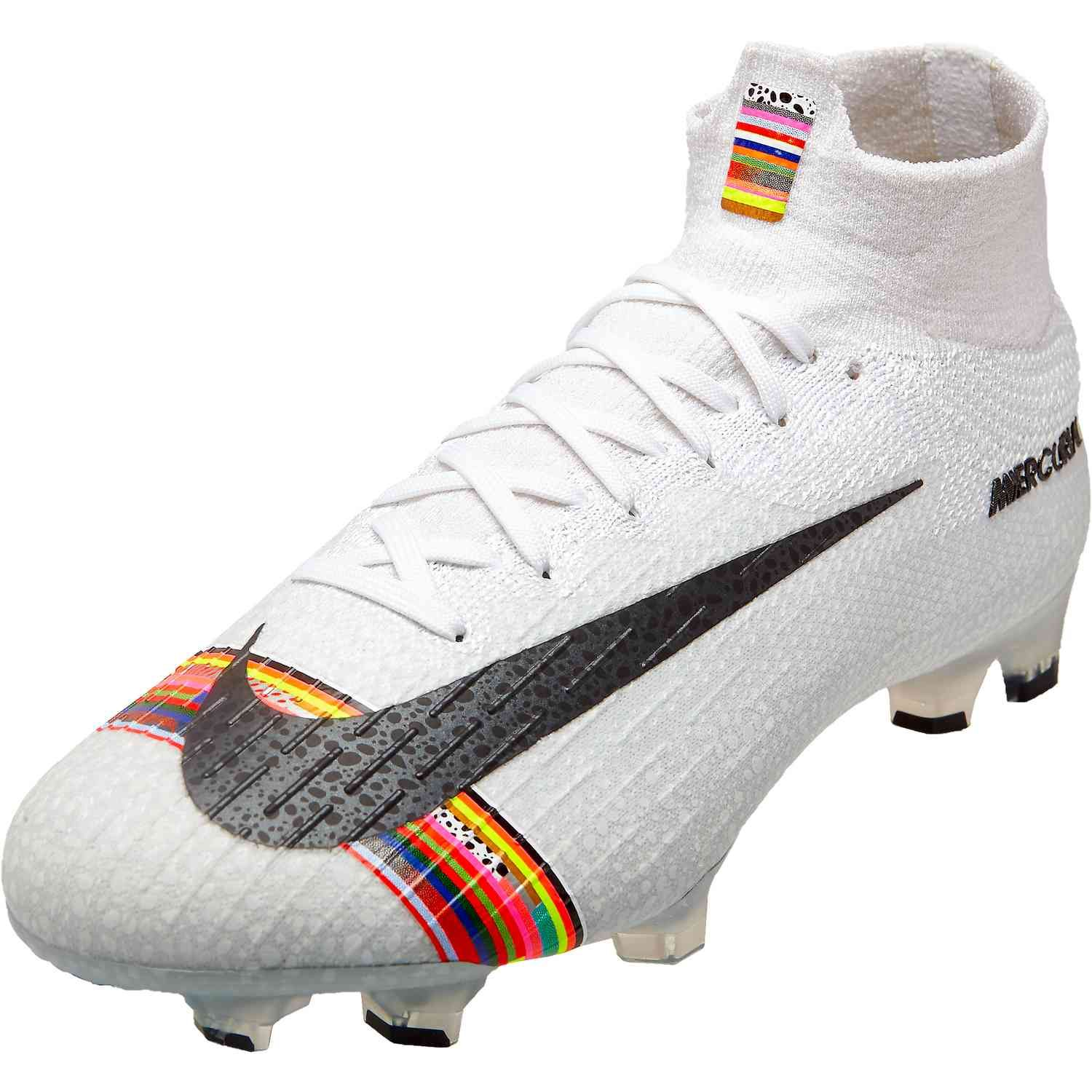 The First Of It S Kind The Nike Mercurial Superfly Vi Elite Fg Soccer Cleats Feature Flyknit For A Fu Nike Football Boots Soccer Cleats Custom Football Cleats