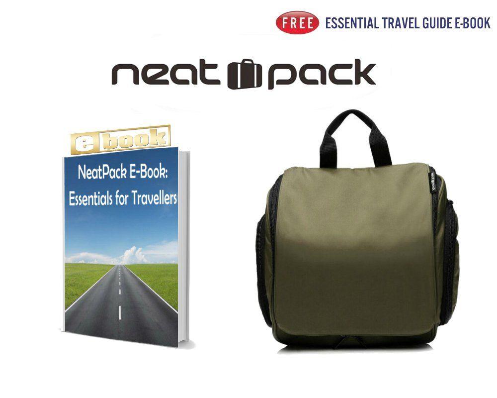aba8fda6794c Medium Size Hanging Toiletry Bag with Detachable TSA Compliant Zipper  Pocket  TravelAccessoriesIdeas