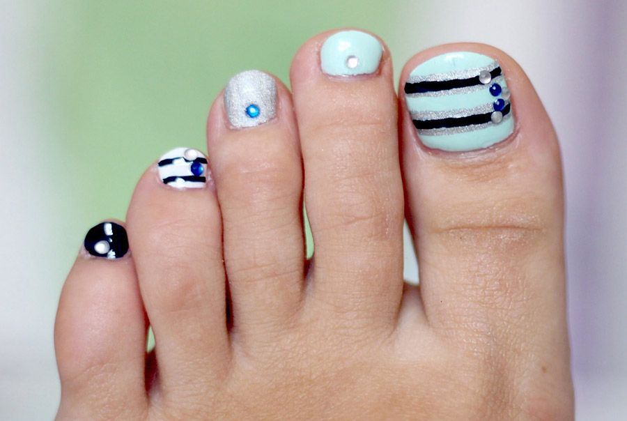 Ms de 40 fotos de uas decoradas para pies foot nails beauty video by elena s my first easy simple and cute toe nail art design for beginners like myself get your toe nails ready for sandals solutioingenieria Images