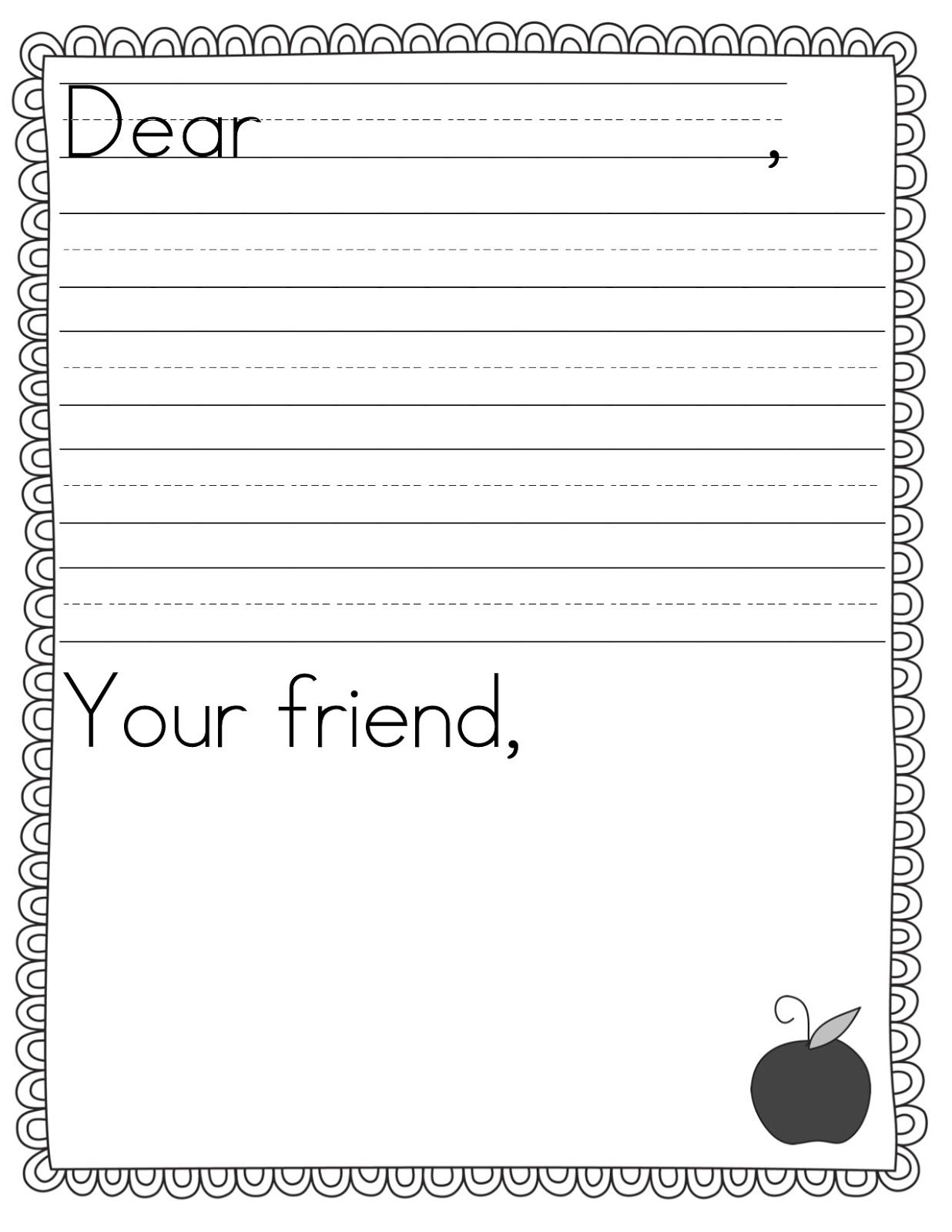 Teacher Idea Factory Pen Pal News Friendly Letter Freebie