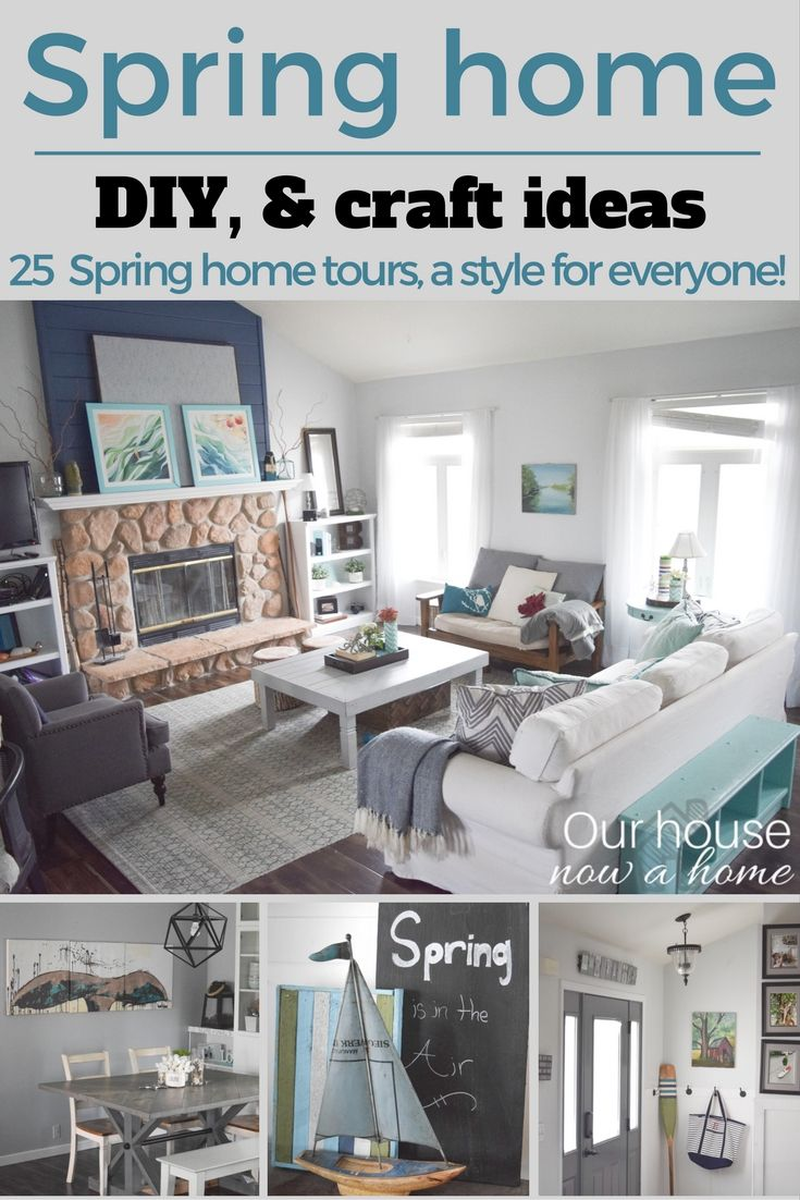 25 Spring home tours - DIY and craft ideas to decorate a home for ...