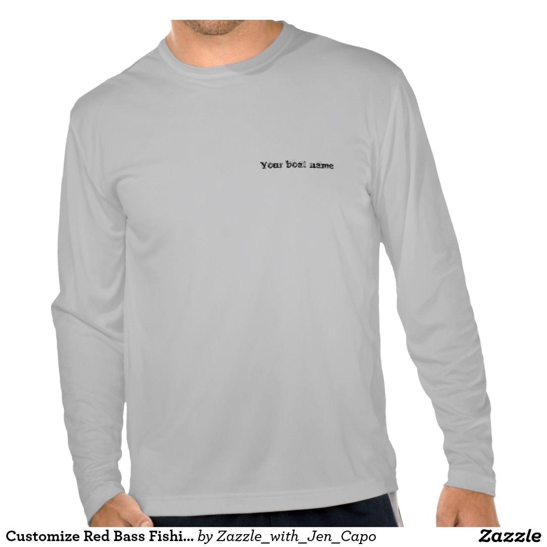 Customize Red Bass Fishing Shirt Custom Gift Ideas Pinterest