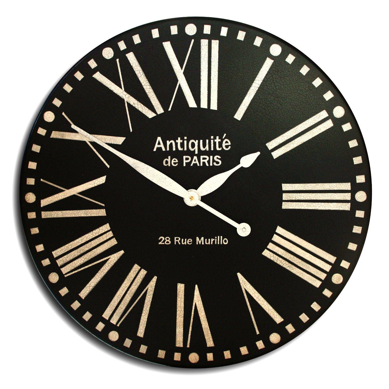 Black Paris Antique Clock The Big Clock Store Large Wall Clock Clock Wall Clock
