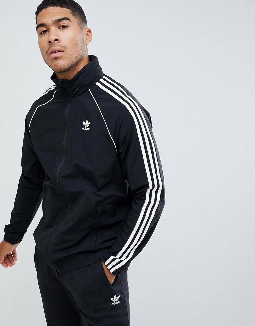 f188d7fca5640 ADIDAS ORIGINALS SUPERSTAR WINDBREAKER JACKET BLACK CW1309 - BLACK.   adidasoriginals  cloth