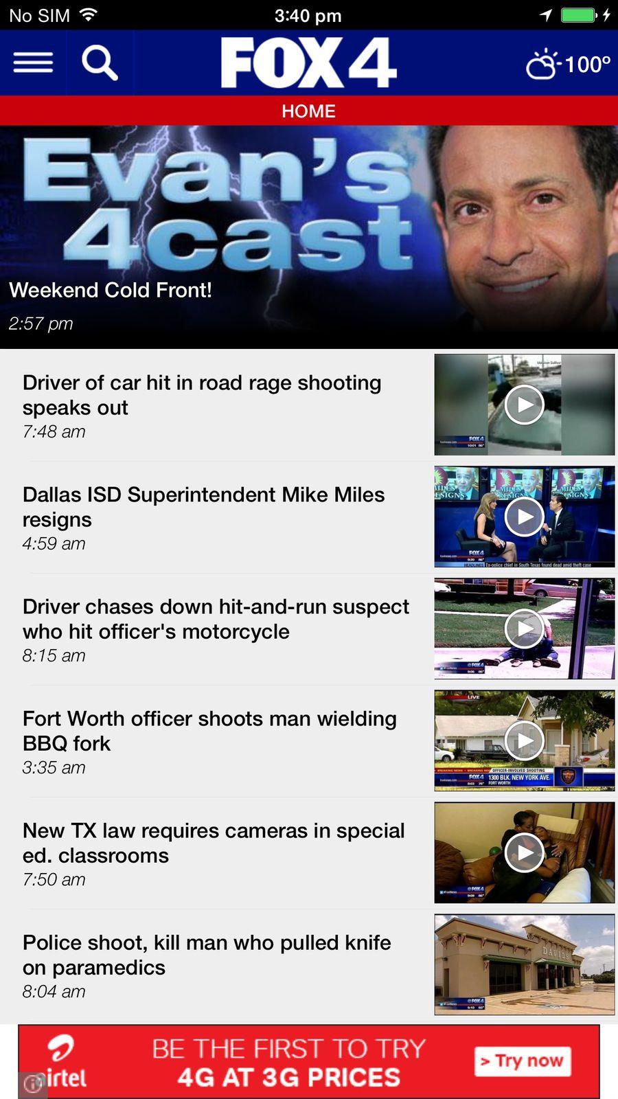 FOX 4 DallasFort Worth StationsTelevisionNewsios