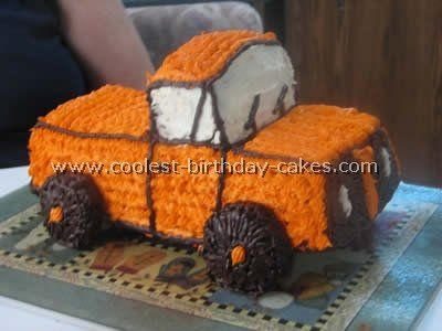 Easy Cake Recipe for the Coolest Ever Truck Cake Cake Truck cakes