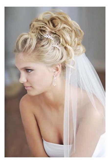 Bridal Updo Hairstyles Blonde Bridal Updo Hairstyles With Veils And Tiaras Hairdo Wedding Wedding Hairstyles With Veil Bridal Hair Veil