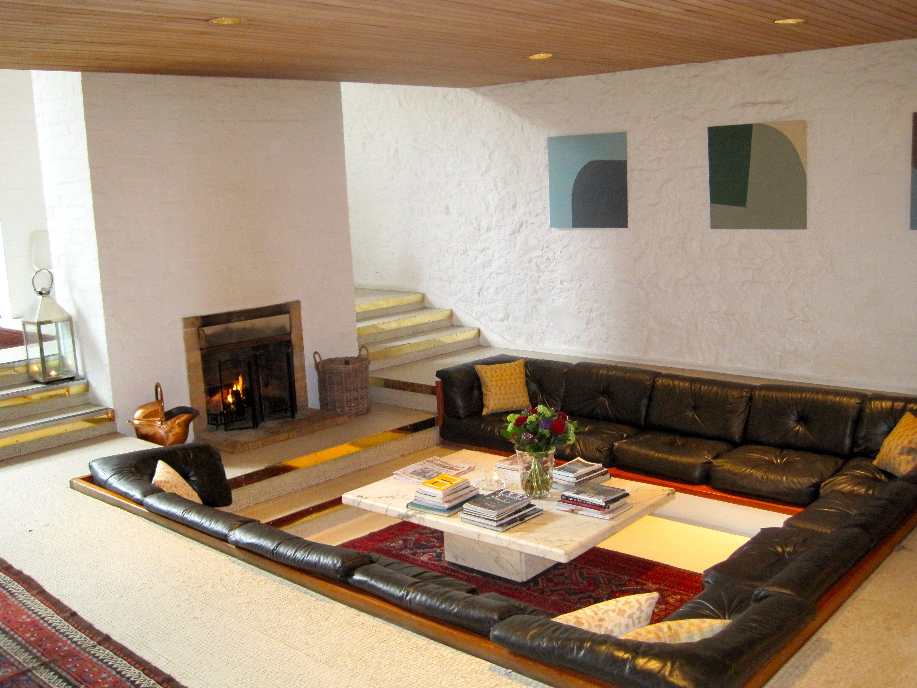 Sunken Square Seating Area  60's Design  Pinterest  Modern Mesmerizing Indian Seating Designs Living Room Design Decoration