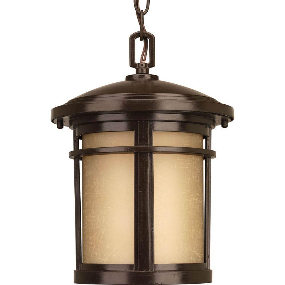 Wish Collection 1-Light Antique Bronze LED Hanging Lantern