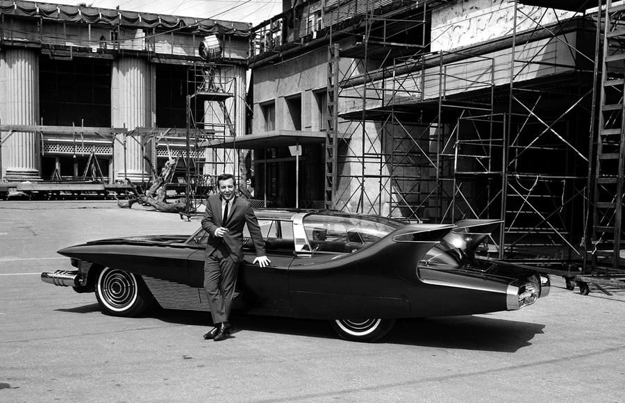 Singer Bobby Darin stands beside a hand-made automobile called the ...