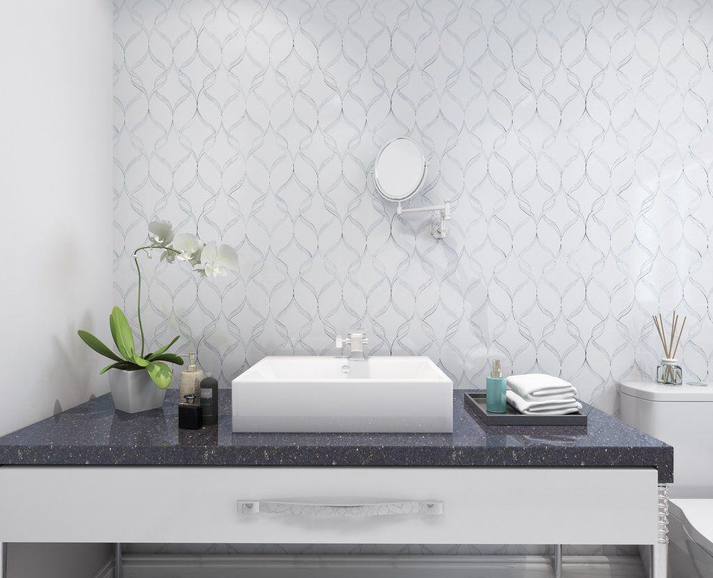 White thassos carrara marble ribbon waterjet mosaic tile 14x17 white thassos carrara marble ribbon waterjet mosaic tile 14x17 dailygadgetfo Images