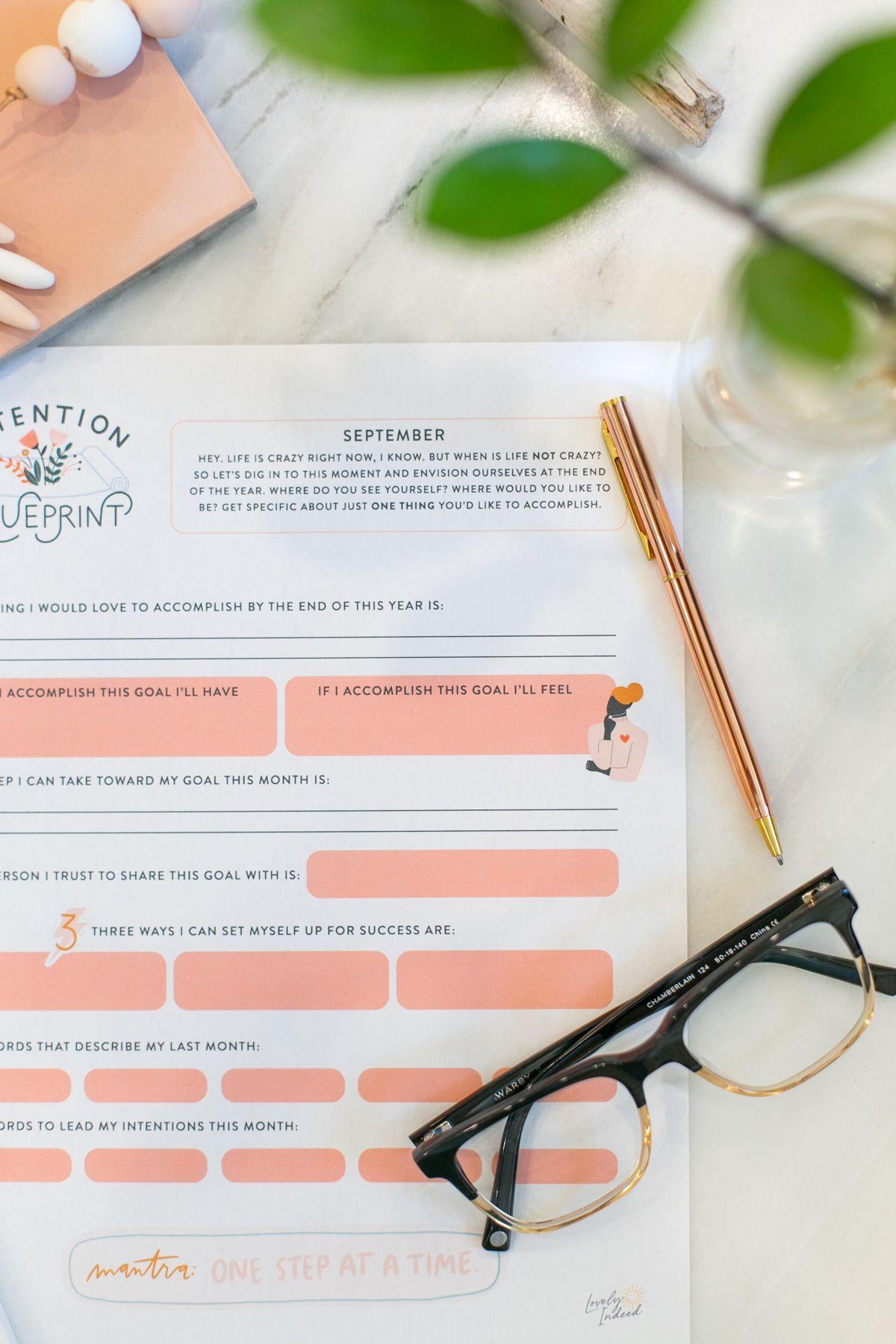 September Intention Blueprint For Setting Goals Lovely