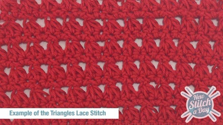 How to crochet the triangle lace stitch (video & written