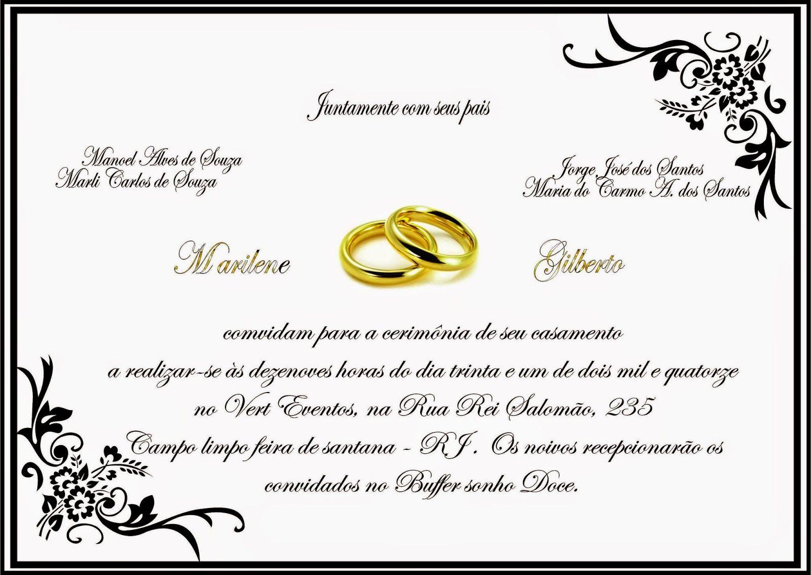 Trabalhos Em Corel Draw X6 Modelos De Convites Para Casamento