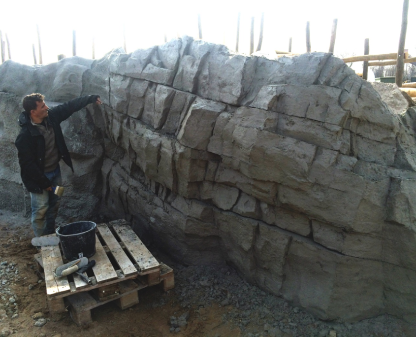 Decoration Professional And Concrete Wall Faux Rock Walls Water Fountains Outdoor Concrete Sculpture