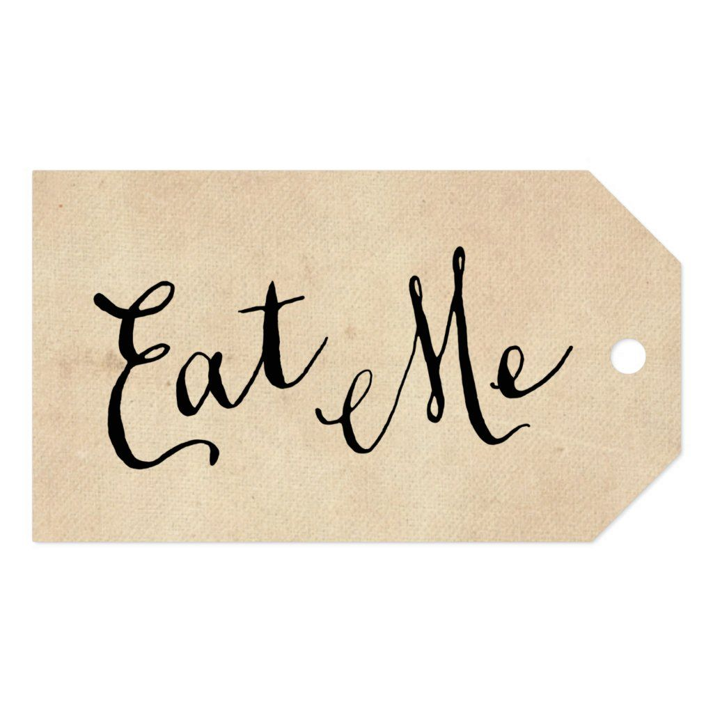 Eat me gift tags in 2020 alice and