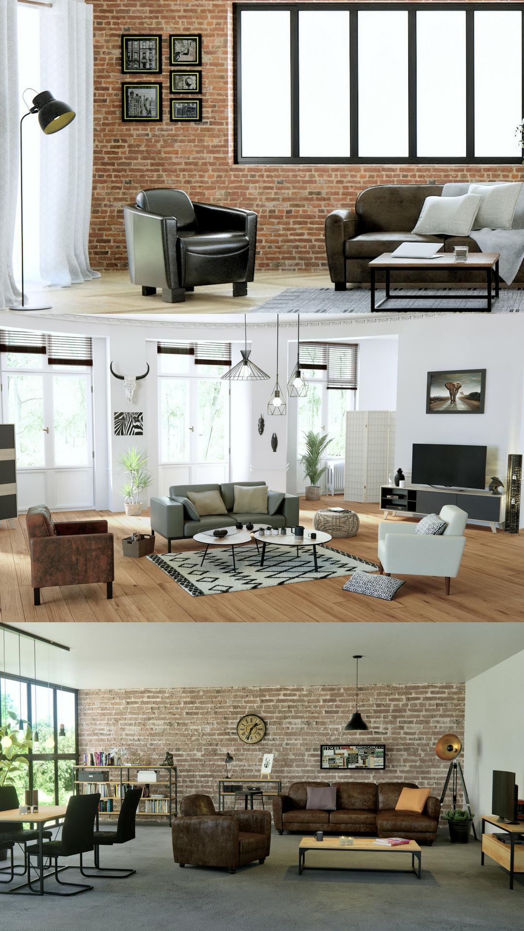 Salon Cuisine Style Industriel décoration industrielle, inspiration tendance | déco salon