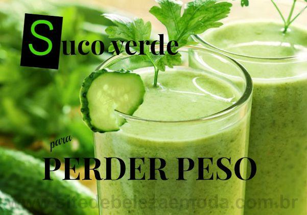 Suco Verde Para Perder Peso Sucos Verdes Suco Detox Receita