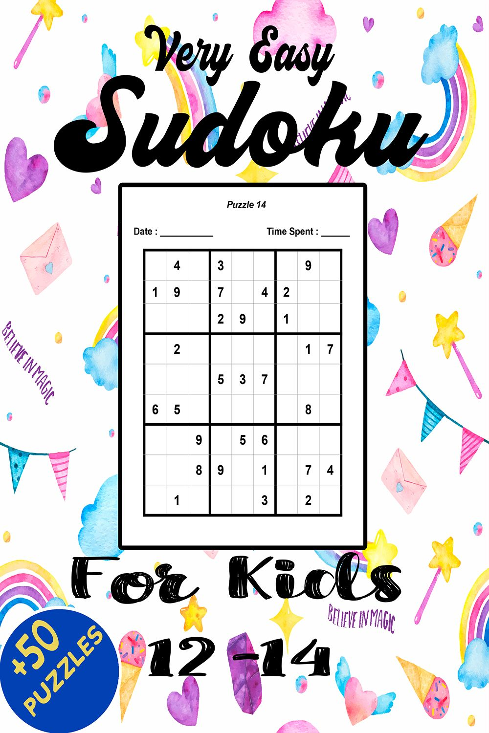 Very Easy Sudoku For Kids 12 14 With Answers Book Gifts Sudoku Kids