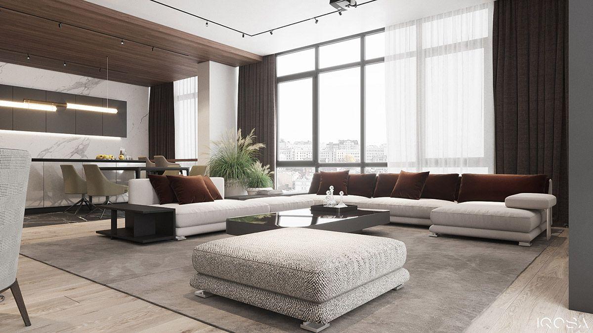 Classy Interior Designs With Slick Dark Accent Pieces