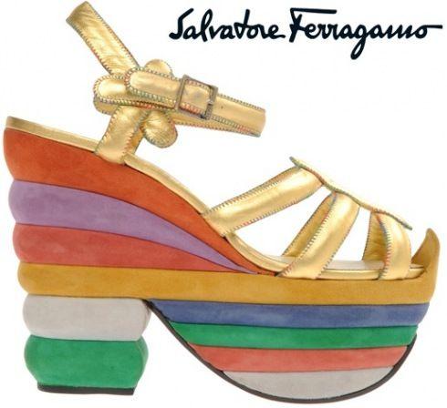 Ferragamo shoes, Shoes heels wedges