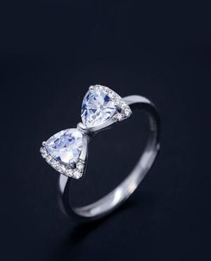 081d40699b33 affordable popular bling CZ bow ring for her Anillos Con Cuentas