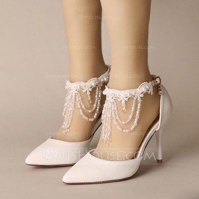 dc8fde1571c Women's Closed Toe Pumps Stiletto Heel Leatherette Buckle Imitation ...