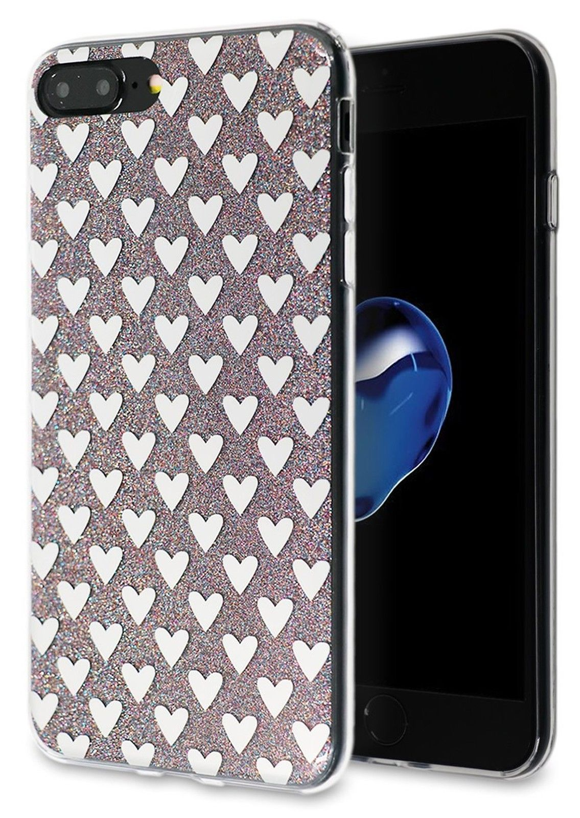 MIRROR HEART SPARKLES Cute Bling Phone Case Cover Accessories For iPHONE 7  PLUS  4823a1d5a596