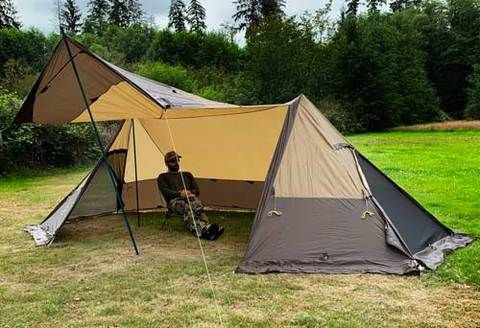Photo of Twinpeak Awning Tent (5P) with Wood Stove Jack