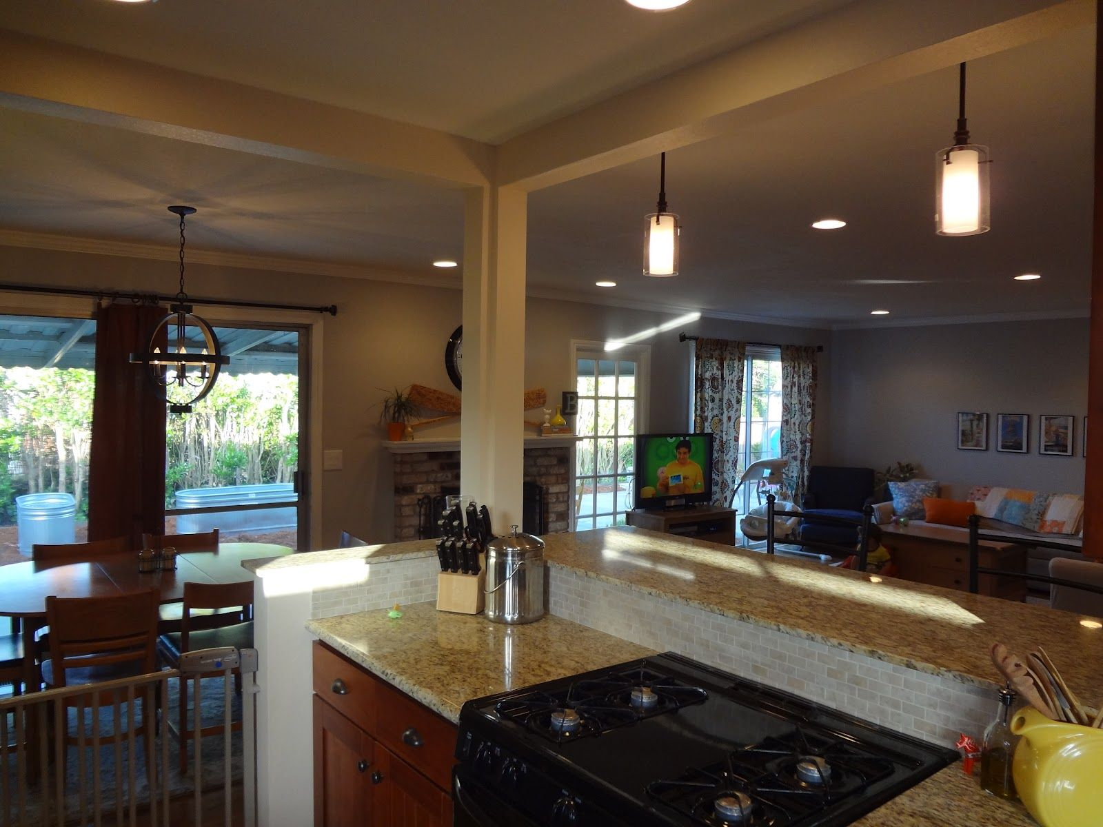Images Of Open Kitchen With Living Room