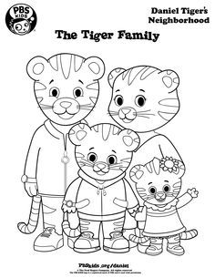 Coloring Daniel Tiger S Neighborhood Pbs Kids Pintar E