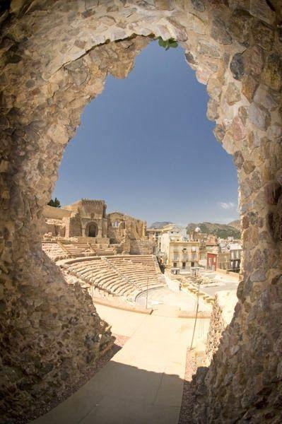 Ruins of Amphitheatre, Cartagena, Murcia, Spain
