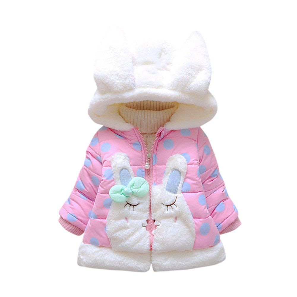 Children Infant Girl Winter Hooded Coat Cloak Thick Warm Outerwear Snowsuit