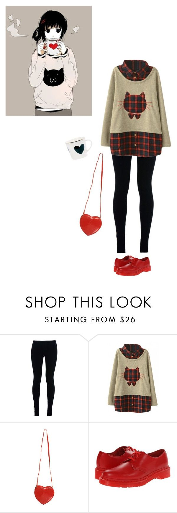 """""""Untitled #1709"""" by momoheart ❤ liked on Polyvore featuring NIKE, Topshop and Dr. Martens"""