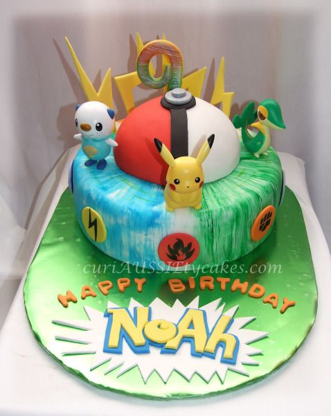 pokemon birthday cakes pokemon cake cake decorating community cakes we bake books worth. Black Bedroom Furniture Sets. Home Design Ideas