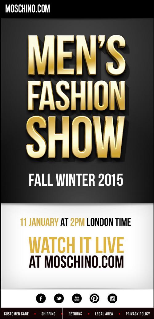 Moschino | Fall  Winter 2015 Men's Fashion Show
