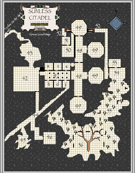 Witty image regarding sunless citadel printable map