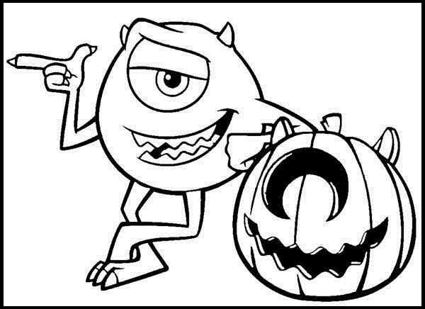 Monster Inc Halloween Coloring Picture For Kids Halloween