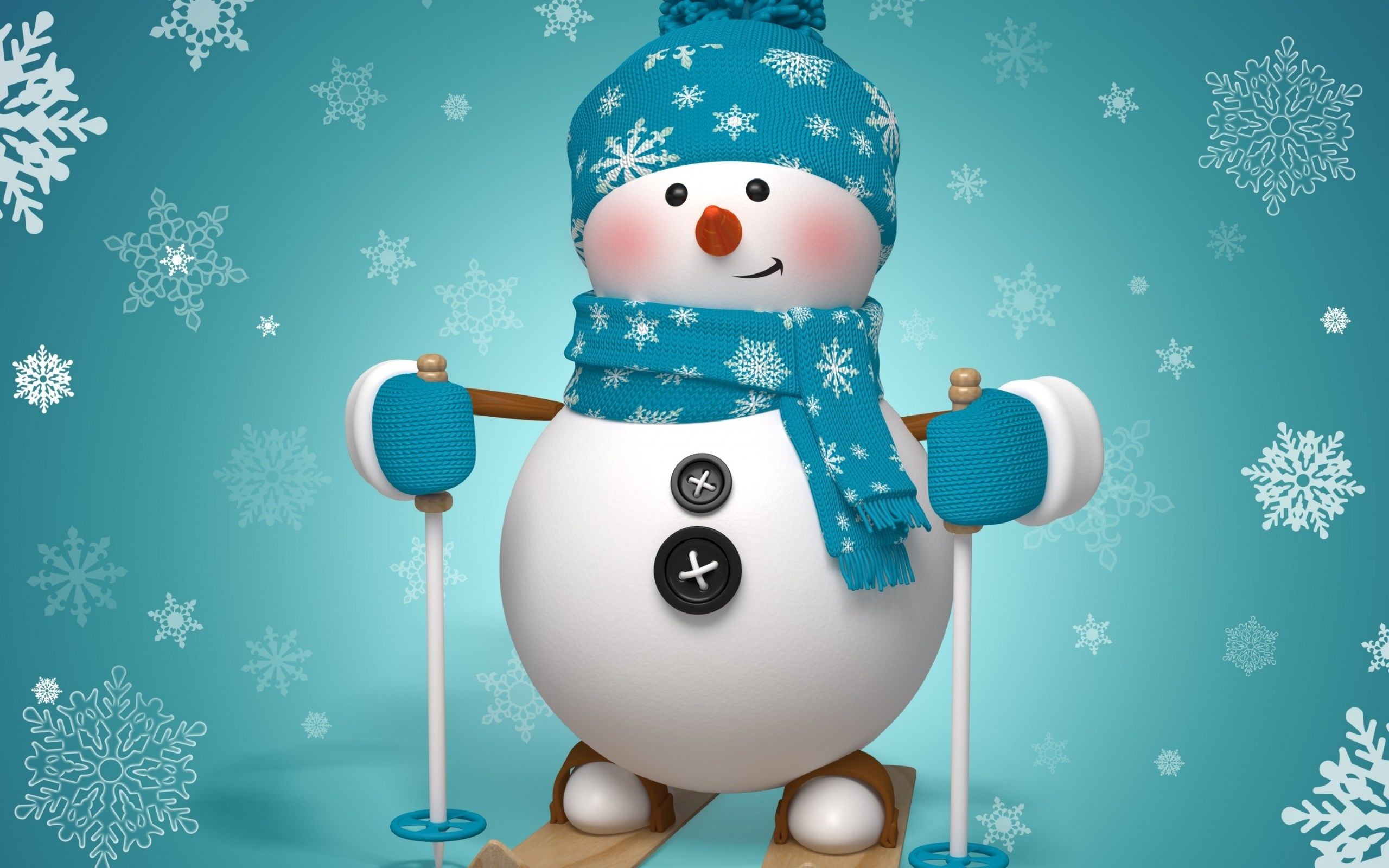 Widescreen Wallpaper Snowman