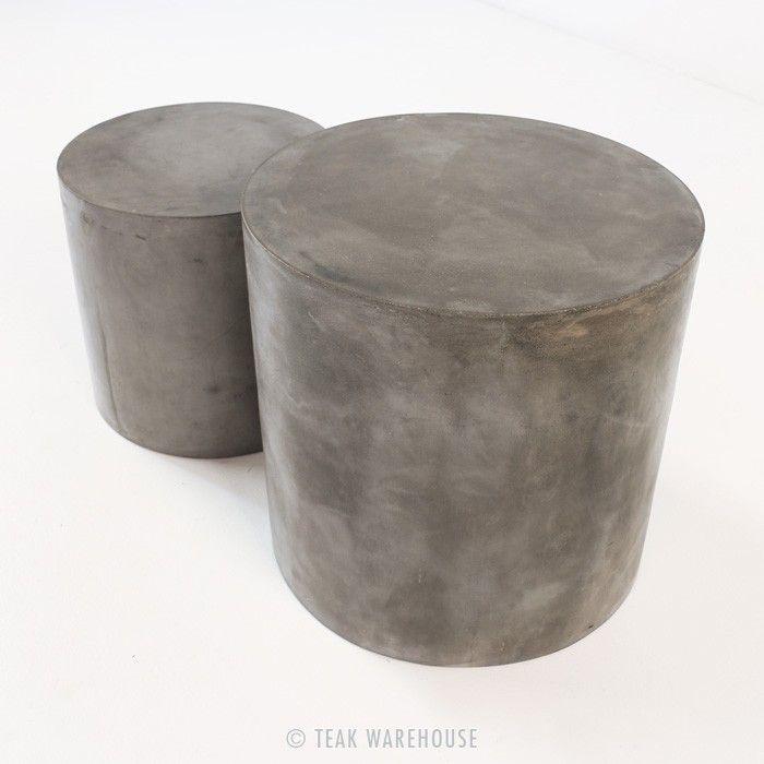 Blok Concrete Round Side Table - Accent Tables - Accessories ...