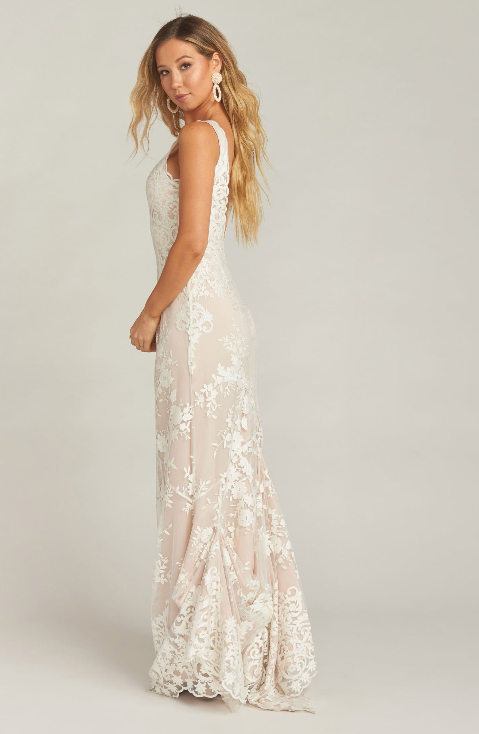 3f3848770f Show Me Your Mumu Contessa V-Neck Lace Wedding Dress | Nordstrom ...