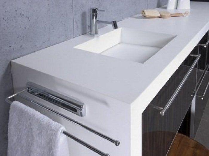 Snow Quartz Bathroom Vanity Top