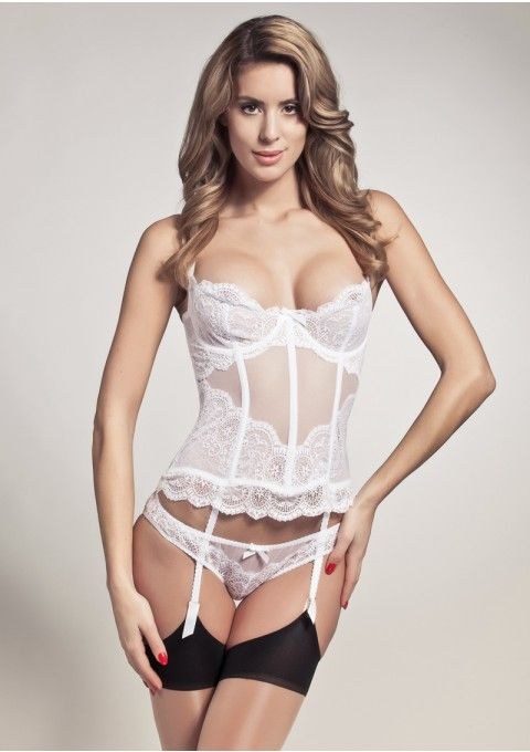 L'Agent by AP Vanesa Bustier in white lace