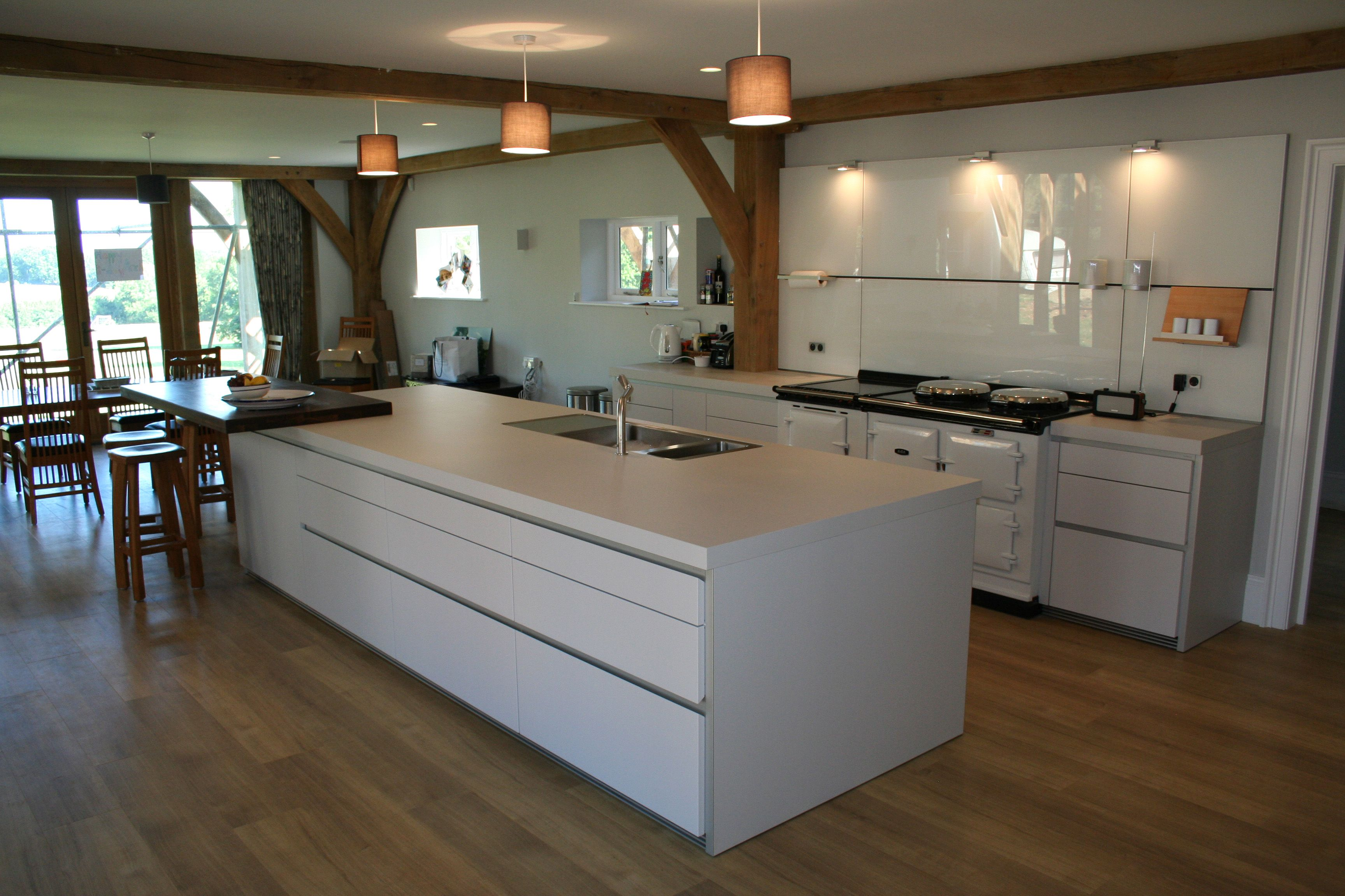 Kitchen Island Cabinets Both Sides Having An Aga Does Away With The Need For Ovens And Hobs
